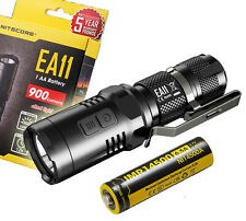 NITECORE EA11 900 Lumens EDC Cree XM-L2 LED Flashlight w/ Rechargeable IMR 14500