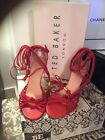 Ted Baker Shoes  Red Leather Tassels Strappy Size 6 Worn Once