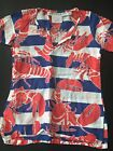 GRETCHEN SCOTT •Girls 2/4• Tunic Swimsuit Cover Up Lobsters Red White Blue