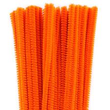 Lot de 50 chenilles 6mm * 30cm orange