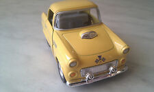 1955 FORD thunderbird yellow FUNNY kinsfun TOY model  diecast Car present