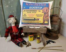 Vintage Winchester Silvertip .30-06 Hunting Ammo Gun Rifle Advertising Pillow