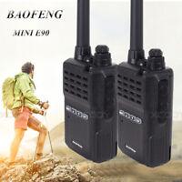 2x Baofeng E90 Digital Radio Walkie Talkie UHF 400-4700MH Handfunkgerät +Headset
