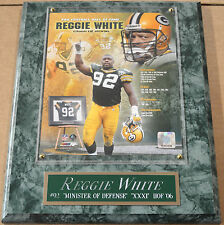 REGGIE WHITE GREEN BAY PACKERS FRAMED 8 X 10 PHOTO WALL PLAQUE-SIGN-MAN CAVE ART