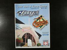 May 21 2007 Cooperstown HOF Game Scorecard Baltimore Orioles  Toronto Blue Jays