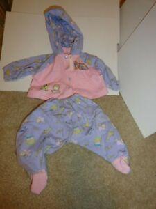 "Zapf creations baby born doll Purple & Pink Choo Choo Pajamas 16"" - 18"""