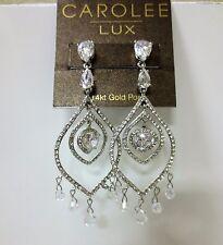 Pierced Earrings New $175 Carolee Lux Eve Crystal Chandelier