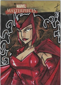 RARE SCARLET WITCH 2008 Marvel Masterpieces Sketch Card Marvel Sky Box