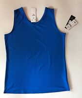 NWT Women's NY Collection Reversible V-Neck/Scoop Neck Blue Tank Shell Cami Top