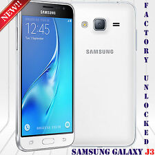 "Samsung Galaxy J3 (2016) SM-J320HDS Android 5.1 8MP 5"" 8GB Unlocked Phone White"
