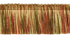 "Copper Olive Beige|1 3/4"" Brush Fringe Trim