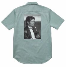 Supreme 17S/S Michael Jackson S/S Work Shirt Work Green Size L 1000% Authentic