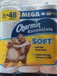 Charmin Essentials Strong 12 Mega Rolls =48 Regular Roll
