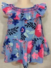 100% True Osh Kosh Top Tunic Shirt Girls 4t Floral Print Flowers Multi Colored Boho Tops & T-shirts