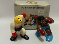 Vintage Salt & Pepper Set Boxing Five and Dime Boxer New in Box 1991 Korea