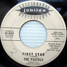 PASTELS teen popcorn girl group PROMO 45 FIRST STAR TOKYO MELODY strong vg e0360