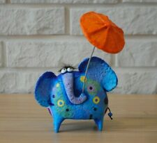 Elephant figurine, paper mache sculpture, elephant statuette, mother`s day gift