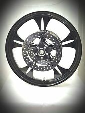 21 x 3.25 HARLEY DAVIDSON ROAD GLIDE GLOSS BLACK REAPER WHEEL With ABS & ROTORS