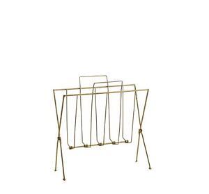 Antique Brass Metal Wire Magazine Rack, Modern Newspaper Storage Stand, 38x29