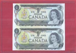 Canada 1 Dollar 1973 Uncut 2-In-1 (UNC) BFK 9566425 BFK 9568925
