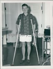 1953 Radio Star Arthur Godfrey After Hip Surgery Original News Service Photo