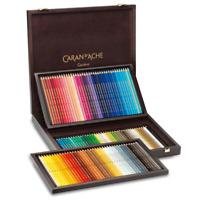 Caran d'Ache Supracolor Artist Water Soluble 120 Colour Pencils Wooden Gift Box