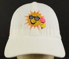 Sun Sunglasses Ice Cream The Jimmy Fund White Baseball Cap Hat Adjustable AS IS