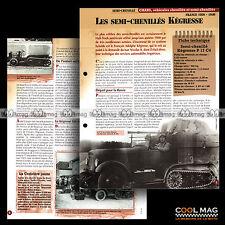 #vm001.05 ★ HALF-TRACK SEMI-CHENILLES KEGRESSE P17 C4 ★ Fiche Véhicule Militaire