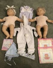 American Girl Bitty Baby Twins Lot Blonde Hair Blue Eyes And Extras