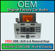 VAUXHALL Corsa CD40 USB Lettore CD, Vauxhall USB/AUX IN Radio Stereo & Display