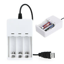 1.2V Intelligent 3-Slot AA/AAA Ni-MH Ni-Cd Battery Charger USB Plug Universal