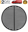 """NEW Cast Iron Dual Side Grid Cooking Grate 18"""" for Large Big Green Egg, Kamado J"""