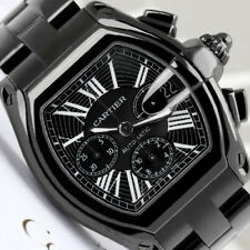 Cartier Roadster XL Black Dial W62020X6 Custom Black PVD/DLC Men's Watch