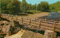 Mellen Wisconsin~Rustic Footbridge~Copper Falls State Park~1955 Postcard
