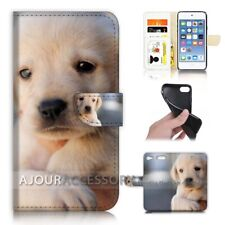 ( For iPod Touch 6 ) Wallet Flip Case Cover AJ21086 Sad Baby Puppy Dog