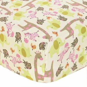 """Carter's Jungle Jill Baby Fitted Crib Sheet ONLY-  52"""" x 28"""" SEE DETAILS 👓"""