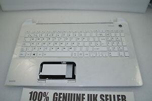 Toshiba Satellite L50-B-1N8 Palmrest UK Keyboard Top WHITE Plastic A000295780