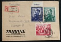1951 Berlin East Germany DDR FIRST DAY Cover FDC Mao Tse Tung Set # 82-84
