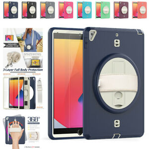 """For iPad 5th 6th Gen Air Mini Pro 12.9"""" 11"""" Full Tablet Case w/ Screen Protector"""