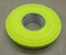 2 X 45 Yards Reflective Tape Sew On Lime Yellow Green Fabric Vest Trim Ribbon