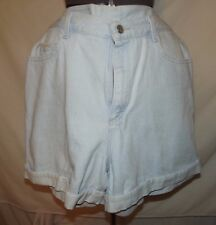 "Lee Riders light blue denim shorts 16 M 100% cotton 35"" waist (C31)"