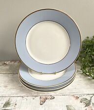 """More details for 4 x royal doulton bruce oldfield dinner plates plates excellent pastel blue 10"""""""