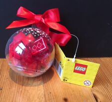 LEGO Christmas Bauble RED Bricks NEW 853344 Ornament Tree Decoration Holiday