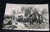 Entrance, The Inn, Rancho Santa Fe, California Real Photo RPPC Postcard 1940s