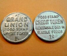 1c GRAN UNION Supermarket USDA FOOD STAMP Token PUERTO RICO Ficha Cupones 1974-9