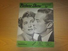 February 1952, PICTURE SHOW, Joan Fontaine, Jean Peters, Stephen McNally.