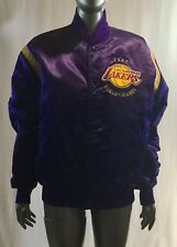 Vintage Los Angeles Lakers 1985 World Champion Starter Satin Jacket Men Size L