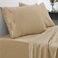 Sweet Home Collection Egyptian Comfort 1800 Thread Count Sheet Set Twin Camel