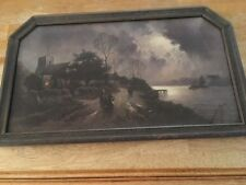 Vintage, Very Rare, J. W. Gozzard  Silvery Moonlight, Canvas, Signed