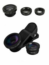 3in1 Fish Eye + Wide Angle Micro Lens Camera Kit for iPhone Samsung HTC LG YUNCA